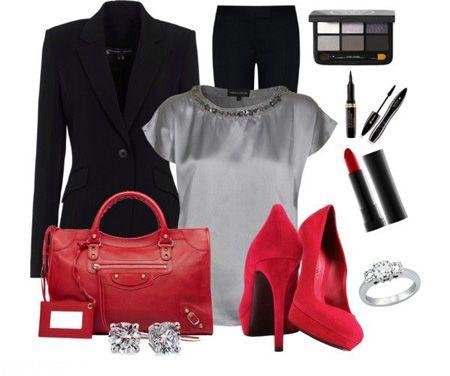 بهترین ست های لباس قرمز و مشکی فصل سرما