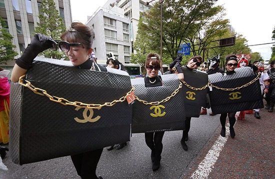 عکس های ترسناک دختران ژاپنی در روز هالووین
