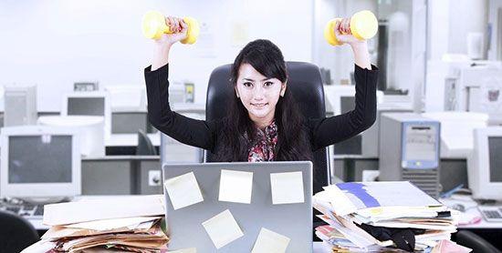 در محل کار ورزش کنید و تناسب اندام داشته باشید