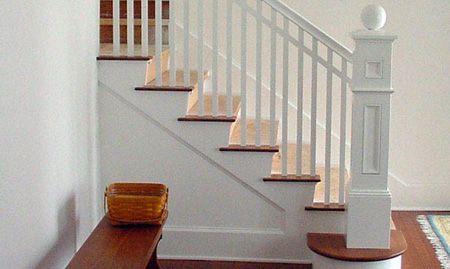انواع نرده برای پله ها از جنس چوب