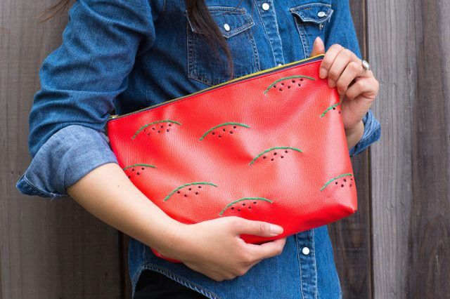 آموزش تصویری ساخت کیف طرح هندوانه