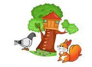 داستان کوتاه و آموزنده سنجاب و کبوتر