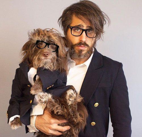 لباس مردی که با سگش کاملا ست می شود