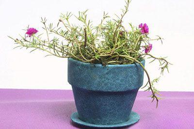 با پارچه های زیبا گلدان ها را تزیین کنید