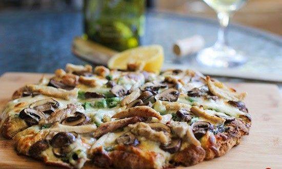 آموزش درست کردن پیتزا مرغ و قارچ