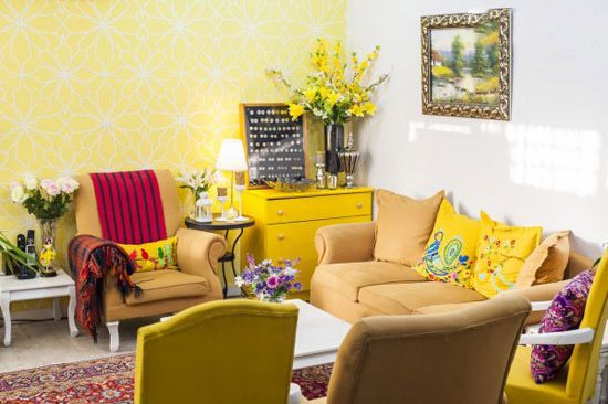 دکوراسیون زیبای خانه منصوره و همسرش در اهواز