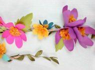 آموزش درست کردن آویز گل کاغذی زیبا