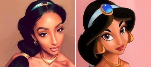 دختران زیبا شبیه شاهزاده های انیمشین ها