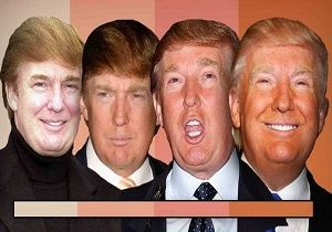 دلیل رنگ نارنجی صورت دونالد ترامپ