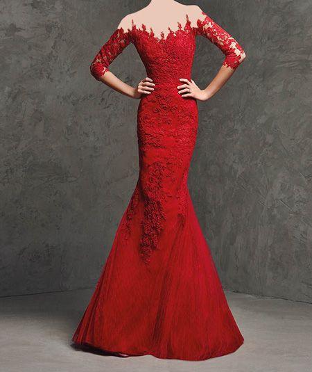 مدل لباس مجلسی زنانه به رنگ قرمز -سری دوم