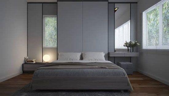 زیباترین اتاق خواب ها به رنگ خاکستری
