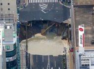 گودال عظیم در خیابان ژاپن هفت روزه ترمیم شد