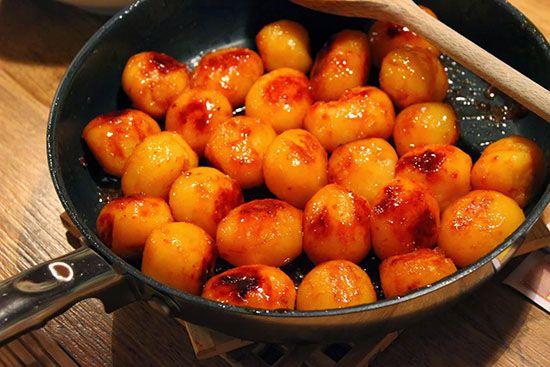 سیب زمینی را به سبک کاراملی درست کنیم
