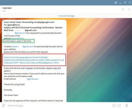 فعال کردن سرویس ایمیل در تلگرام