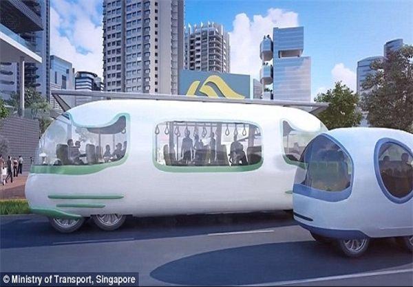 اتوبوس های خودران در سنگاپور +عکس