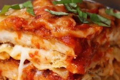 طرز تهیه غذای خوشمزه لازانیای مرغ و پنیر
