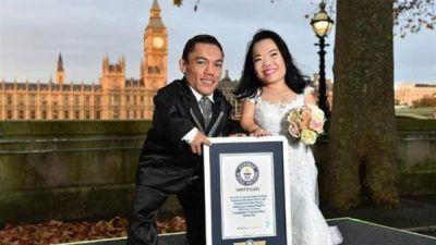 قدکوتاه ترین زن و شوهر دنیا در گینس