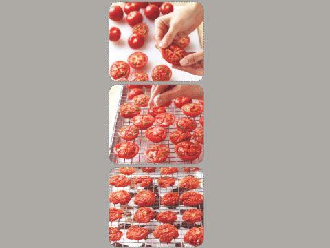 خشک کردن گوجه فرنگی با این ترفند