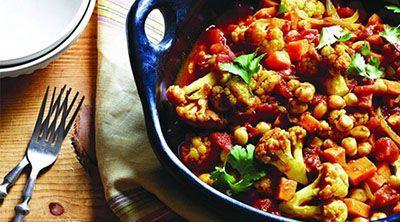 سبزیجات با ادویه هندی یک غذای سالم