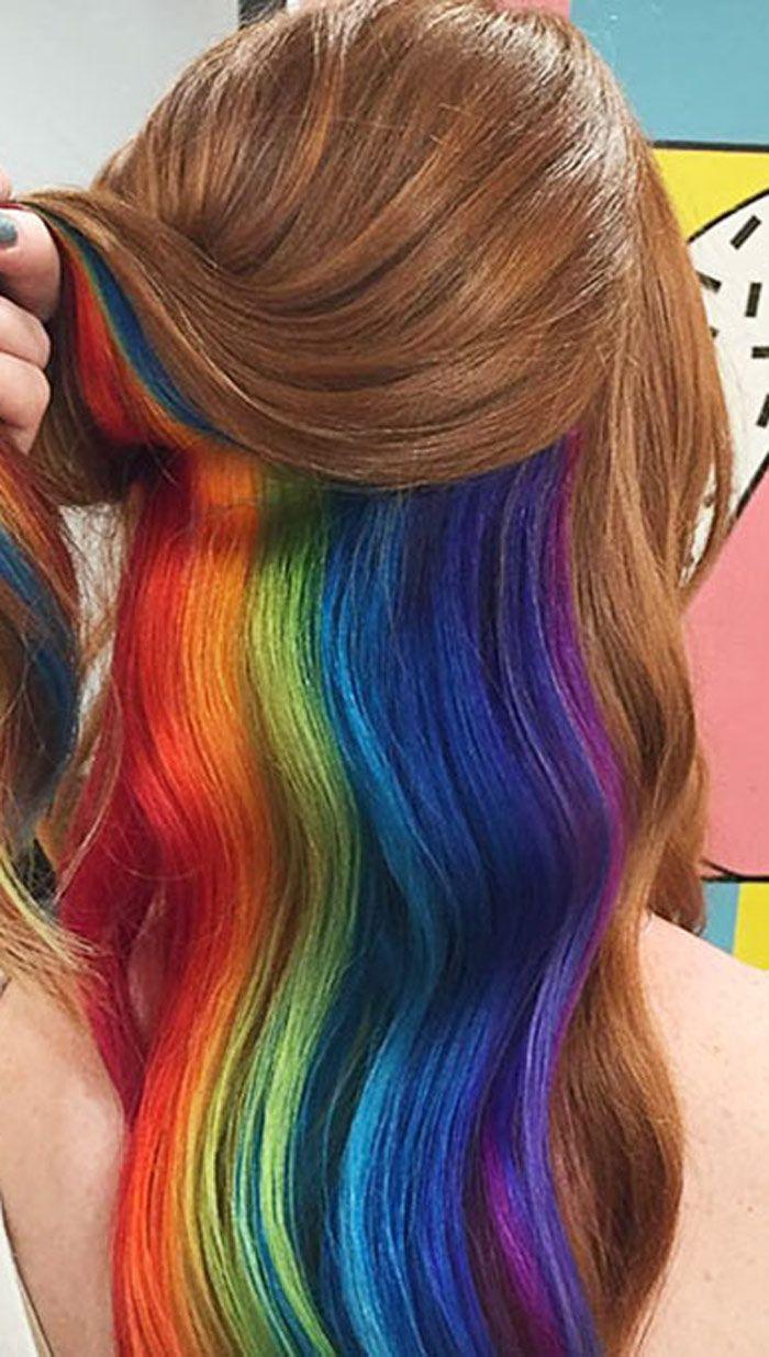 رنگین کمان مخفی لابه لای موهای شما