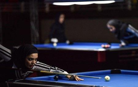 تصاویر برگزاری مسابقه بیلیارد زنان شیراز