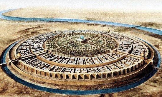 طراحی جالب شهر بغداد به شکل دایره