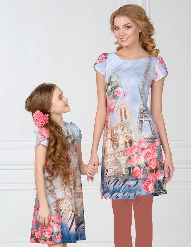 لباس مجلسی زیبا ست مادر و دختر از برند Marka