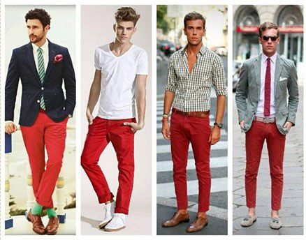 آقایان شلوار رنگی را این گونه ست کنید