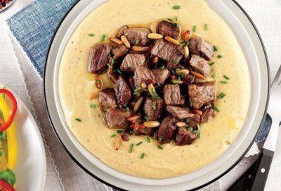 طرز تهیه خوراک هوموس و گوشت خوشمزه