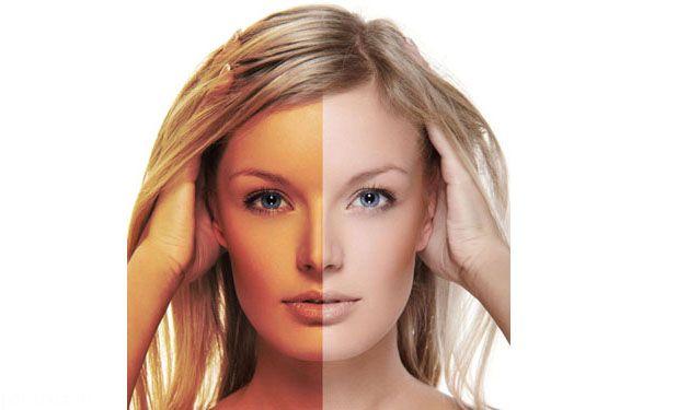 تبدیل پوست برنزه به پوست روشن و زیبا