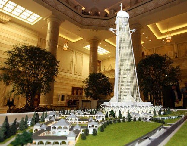 بلندترین سازه اروپا در چچن ساخته می شود