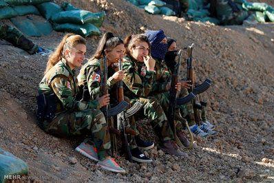 دختران کرد ایرانی در جنگ مستقیم با داعش