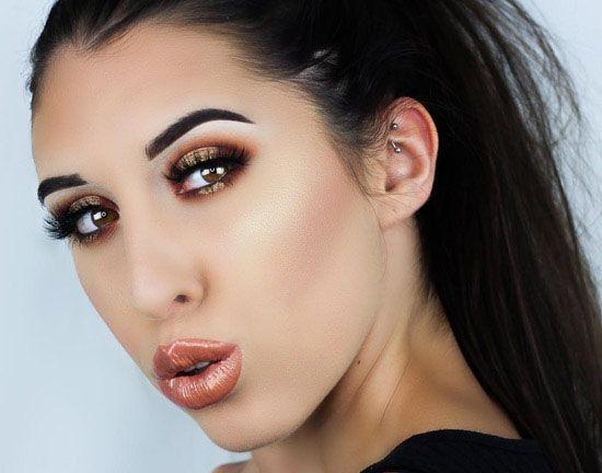 مدل آرایش چشم صورت و لب از Emily Mclaughlin