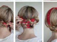 هنرنمایی با دستمال سر برای موها