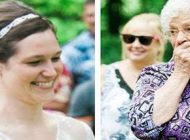 زنی که با دیدن لباس عروس حیرت زده شد