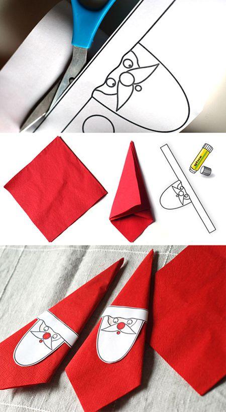 تزیین دستمال سفره برای کریسمس