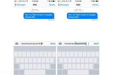انتقال نشانگر متن هنگام تایپ در گوشی آیفون