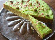 آموزش تهیه چیز کیک پسته همراه با شکلات