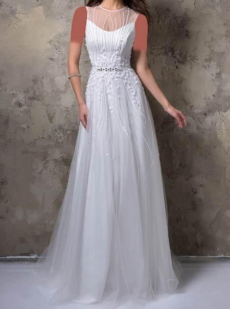 انواع مدل های لباس مجلسی به رنگ سفید