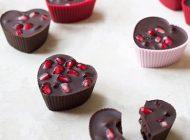 بهترین خوراکی شب یلدا دسر شکلات انار