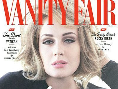عکسهای ادل خواننده مشهور روی مجله مد ونتی فر