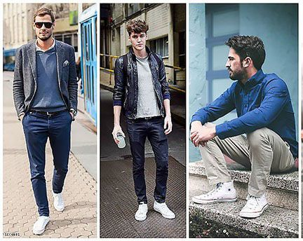 بهترین تیپ های مردانه با کفش های کانورس
