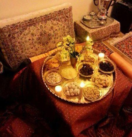 تزیینات سفره مخصوص شب یلدا زیبا