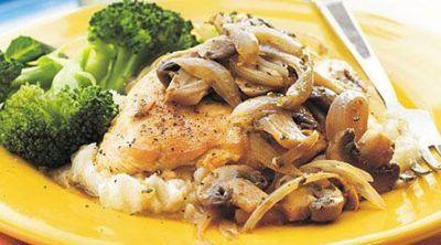 طرز تهیه خوراک مرغ و قارچ خوش طعم و عالی