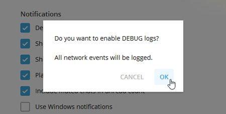 آموزش فعال کردن منوی مخفی Debug در تلگرام