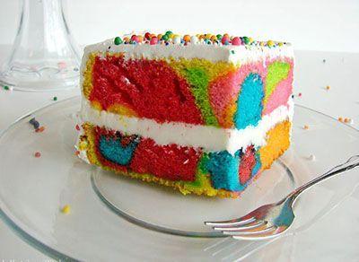 روش تهیه کیک رنگین کمانی خوشمزه
