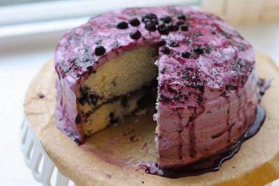 آموزش تهیه کیک بلوبری خوش طعم