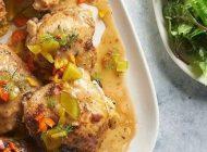 آموزش آشپزی مرغ و سس خیارشور خوشمزه