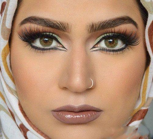 مدل های زیبای آرایش صورت خلیجی و عربی