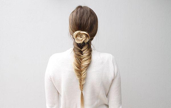 آموزش بافت مو مدل تیغ ماهی و گل بسیار زیبا